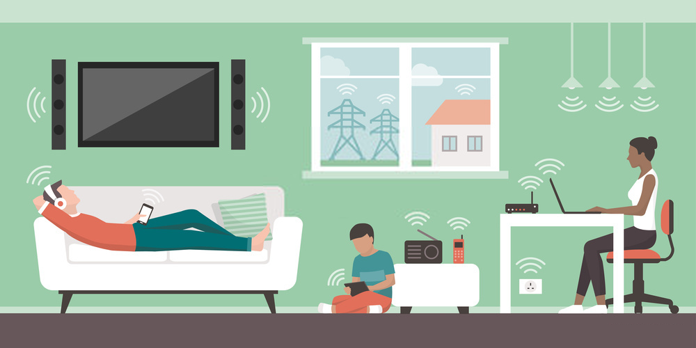 Harmful waves coming from various digital and electronic devices in the home